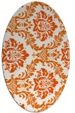 rug #599125 | oval red-orange damask rug
