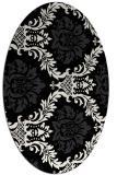 rug #599130 | oval damask rug