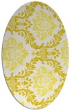 rug #599133 | oval white damask rug