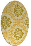 rug #599145 | oval yellow rug