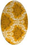 rug #599193 | oval light-orange rug