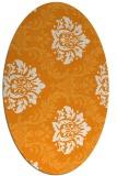 rug #599201 | oval light-orange damask rug