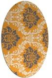 rug #599205 | oval light-orange damask rug