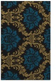 rug #599229 |  mid-brown damask rug