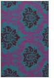 rug #599273 |  blue-green damask rug