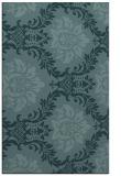 rug #599281    blue-green damask rug