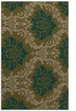 rug #599329    brown damask rug
