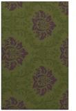 rug #599345 |  green damask rug