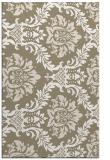 rug #599349 |  mid-brown damask rug