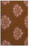 rug #599353 |  brown damask rug