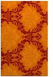 rug #599397 |  orange damask rug