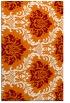rug #599401    orange damask rug