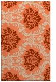 rug #599405 |  orange damask rug