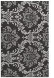 rug #599409 |  red-orange damask rug