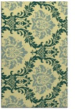 rug #599413 |  yellow damask rug
