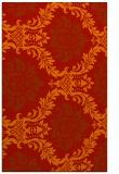 rug #599453    orange damask rug
