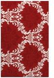 rug #599457    red damask rug