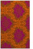 rug #599473 |  red-orange damask rug