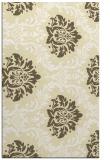 rug #599501 |  yellow damask rug
