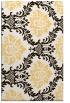 rug #599505    brown damask rug