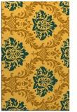 rug #599513 |  light-orange damask rug