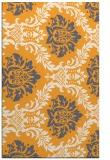 rug #599557    light-orange damask rug