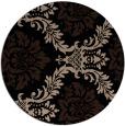 rug #599573 | round beige damask rug