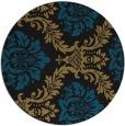 rug #599581 | round black damask rug