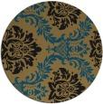 rug #599584 | round damask rug