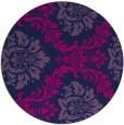 rug #599589 | round blue damask rug