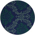 rug #599593 | round blue damask rug