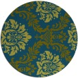 rug #599621 | round green damask rug