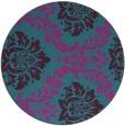 rug #599625 | round pink damask rug
