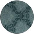rug #599633 | round blue-green damask rug