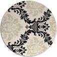 rug #599637 | round blue-green damask rug