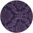 rug #599657 | round blue-violet rug