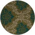 rug #599681 | round mid-brown damask rug