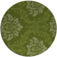 rug #599685 | round green damask rug