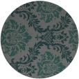 rug #599689 | round blue-green damask rug
