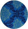 rug #599729 | round blue damask rug