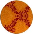 rug #599749 | round orange damask rug