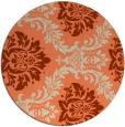rug #599757 | round orange rug