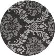 rug #599761 | round orange damask rug