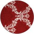 rug #599809 | round red damask rug