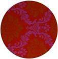 rug #599813 | round red damask rug