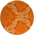 rug #599821 | round red-orange damask rug