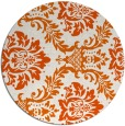 rug #599829 | round red-orange damask rug