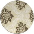 rug #599853 | round yellow damask rug