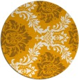 rug #599897 | round light-orange damask rug