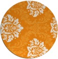 rug #599905 | round light-orange damask rug